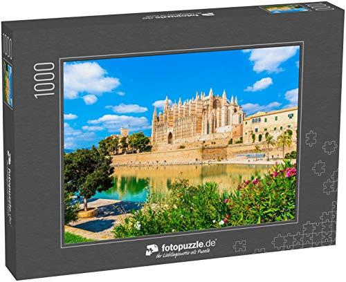 Puzzle 1000 Teile Die gotische Kathedrale La Seu auf den Inseln Palma de Mallorca, Spanien - Klassische Puzzle mit edler Motiv-Schachtel, Fotopuzzle-Kollektion 'Spanien'