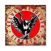 Velvet Revolver ヴェルヴェット 木製 額縁 フォトフレーム 壁掛け 木製 横縦兼用 絵を含む 40×40cm