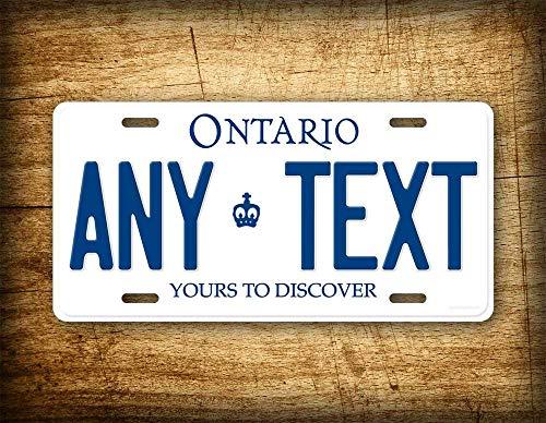 Fhdang Decor Ontario Canada Replik Nummernschild Kanadische Replik Auto Tag CA Aluminium Schild 6x12