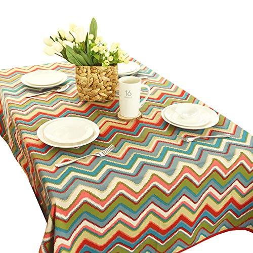 Bohème Style Motif Géométrique À Manger Nappe Coton Salon Décoration Partie Nappe De Mariage Décoration Tissu