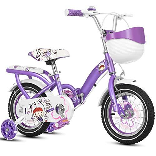 WZLJW Chica Lquide niños de Bicicletas Bicicletas Bicicletas Plegables Boy 3-6-7 Años de Edad Bicicletas YCLIN ggsm (Color : 12in 2)