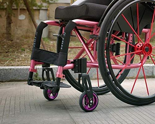 TYZXR - Sillitas de ruedas deportivas de 12 kg de peso ligero, ergonómicas, cómodas, reposabrazos, 100 kg, carga de 42 x 42 cm, asiento de deporte, color rosa, negro