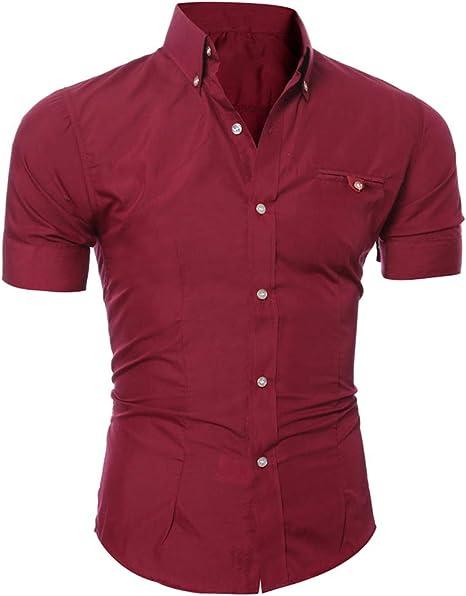 Vimbhzlvigour - Camisa de manga corta para hombre, color ...
