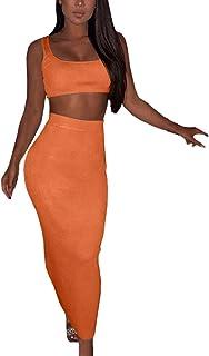 b15bb8f03 Amazon.es: conjunto falda top mujer - Naranja