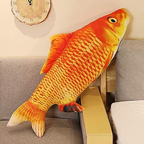XIAN Simulación Pez payaso realista de peluche juguetes de peluche suave Goldfish relleno sofá cojín regalo creativo divertido decoración 120 cm B granizo (color: C, tamaño: 40 cm)