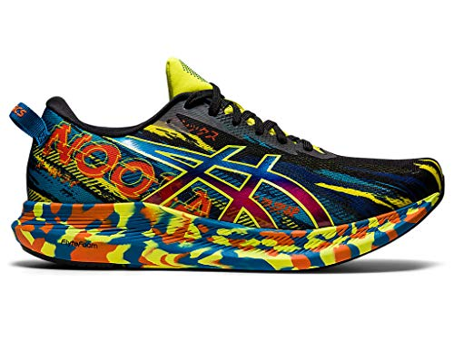 ASICS Men's Noosa Tri 13 Running Shoes, 10M, Black/Sour Yuzu