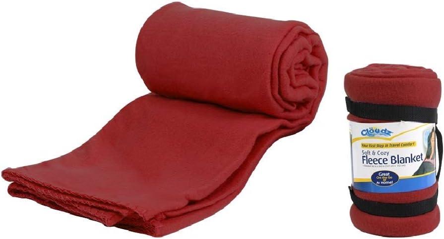 Max 65% Max 65% OFF OFF Cloudz Fleece Travel Burgundy - Blanket