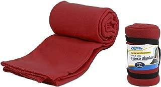 Cloudz Fleece Travel Blanket - Burgundy