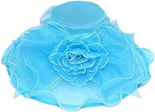 Womens Bucket Sun Hat w/Floral Veil Bow