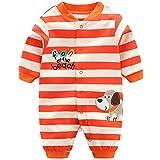 Minizone Monos infantil del bebé de los mamelucos Niños Onsises algodón de manga larga Sleepsuit para Bebé-Niñas 9-12 Meses Perro