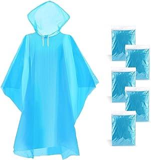 WodsWod Emergency Rain Ponchos Waterproof Disposable Rain Ponchos Premium Quality 50% Thicker 5 Pack for Theme Parks, Hiki...