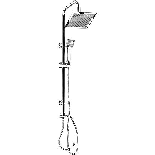 CON:P SA330101 Conjunto de ducha con barra (cuadrado, 1 función ...