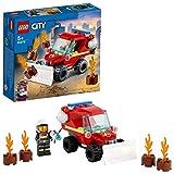 LEGO 60279 City Mini-Löschfahrzeug Spielzeug, Feuerwehrauto mit Feuerwehrmann als Minifigur für 5-jährige Jungen und Mädchen