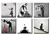 time4art Banksy Print Canvas 6 Bild 6 x 30x30cm There is