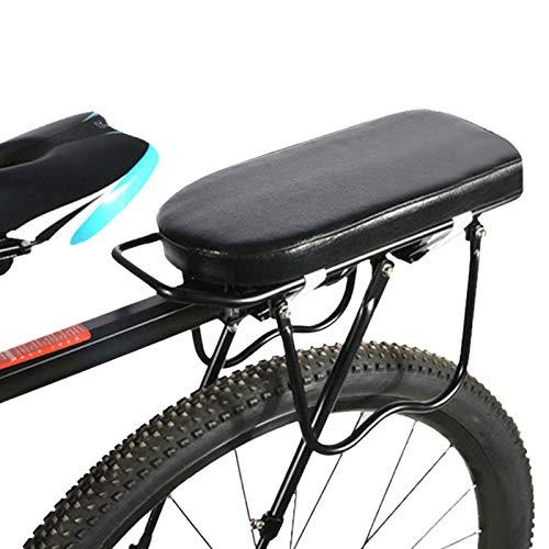 FOLOSAFENAR Asiento Trasero de Bicicleta Negro Sillín Trasero de Bicicleta Cómodo Lavable, para Bicicleta(Semicircular Seat Plate (Black))