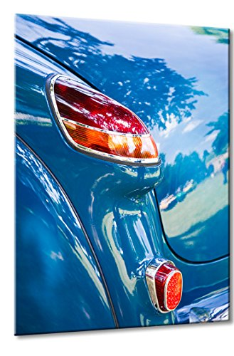 Fine-Art-Manufaktur Oldtimer Opel Kapitän Heckflosse Rücklicht Car   Aus der Serie: Opel Best Of   Farbe: blau   Rubrik: opel + Auto Bilder