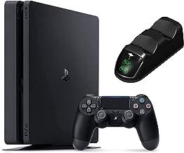 کنسول Sony Playstation 4 1TB - Black PS4 Slim Edition با 1 ترابایت فضای ذخیره سازی ، یک کنترلر بی سیم DS4 W/بسته شارژ ایستگاه بارانداز