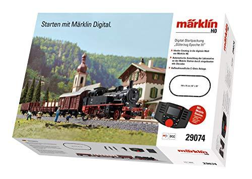 Märklin 29074 BR 74 Digital-Startpackung Güterzug Epoche 3, Spur H0 Modelleisenbahn, viele Soundfunktionen, mit Mobile Station und C-Gleis Schienen
