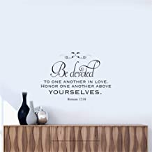 Mcdeog Wall Stickers Art Decor Decals Be Devoted to One Another in Love