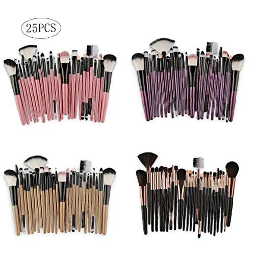25pcs SET Pinceaux Kit synthétique Maquillage cheveux Brosses fard à paupières de teint en poudre Brosses Outils multifonctions Beauté
