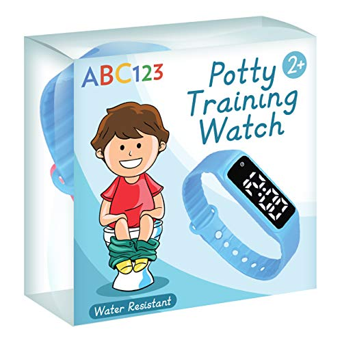 ABC123 Potty Training Watch – Baby Reminder Water Resistant Timer for Toilet Training Kids & Toddler