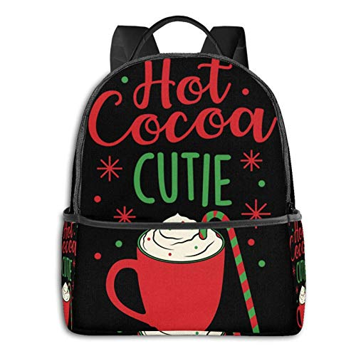 Hot Cocoa Cutie Pullover Hoodie Student School Bag School Cycling Leisure Travel
