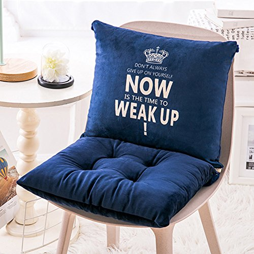 Plush Seat Cushion Printed Pillow Thick padded Chair pads With ties Rocking chair Cushion Floor seating Cushion For home garden office-B