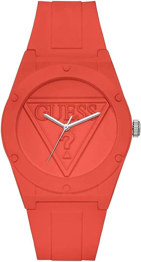 Guess Reloj Analógico para Mujer de Cuarzo con Correa en Silicona W0979L25