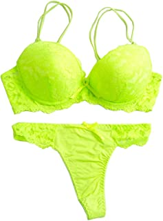 lime green bra set