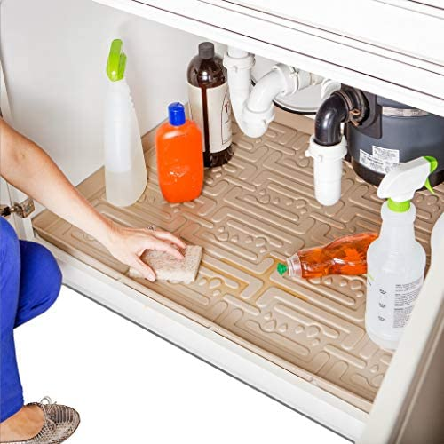 Xtreme Mats Under Sink Kitchen Cabinet Mat Pick Your Size 25 x 22 Waterproof Cabinet Protector product image