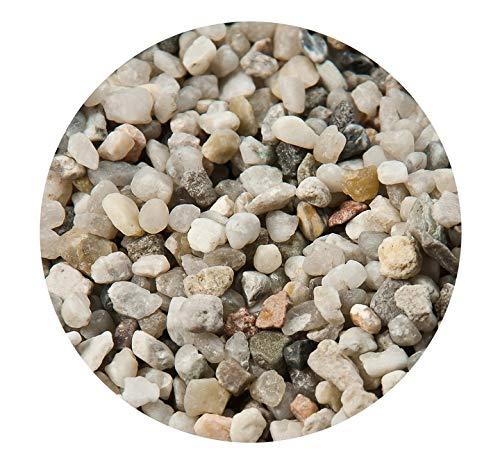 Retne Natur Grau Quarzsand Aquarium Bodengrund Sand 0,6-1,2 mm (1kg, Kies 3-5mm)