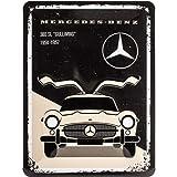 Nostalgic-Art Cartel de chapa retro Mercedes-Benz – 300 SL Beige – Idea de regalo para los fans de los coches, metálico, Diseño vintage, 15 x 20 cm