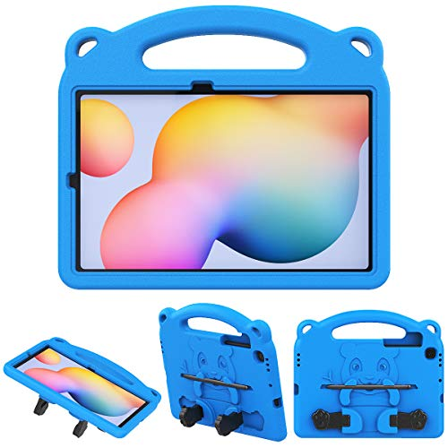 TiMOVO Case for All-New Samsung Galaxy Tab S6 Lite 2020, Light Weight Convertible Handle Stand Kids Friendly EVA Protective Cover Fit Galaxy Tab S6 Lite 2020 Tablet, Blue
