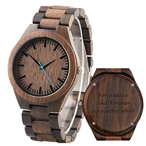 Custom Engraved Wooden Watch for Men Personalized Wood Wrist Watch - Groomsmen Gift Father's Day Gift - Free Engraving
