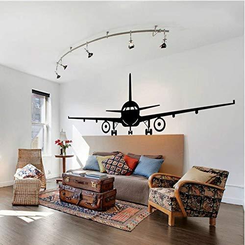 Cczxfcc Vliegtuig Muurtattoo Jumbo Jet Vinyl Muursticker Home Woonkamer Decor Groot vliegtuigbehang Afneembare muurschilderijen 57 x 18 cm