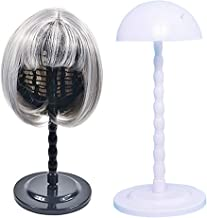 Wig Hair Head Mushroom Top New Plastic Folding Stable Durable Hat Cap Display Holder Stand Tool Wig Stand (White)