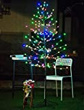 Bolylight LED Lighted Frosted Ball Tree 6ft 184L Bulb and Christmas Decorations for Home/Bedroom/Party, Outdoor and Indoor Use Multi-Color