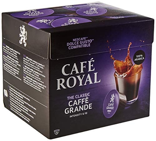 Café Royal Caffè Grande 48 Nescafé®* Dolce Gusto®* kompatible Kaffeekapseln, 3er Pack (3 x 16 Kapseln)