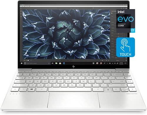 HP Envy 13 Laptop, 13.3' FHD 1080p Touchscreen, i7-1165G7 EVO, 8GB DDR4 RAM, 1TB SSD, Webcam with Shutter Switch, Backlit Keyboard, Fingerprint Reader, WiFi 6, Bluetooth 5, Windows 10 Home