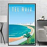 MXIBUN Poster Und Drucke Weltreisen Stadt Tel Aviv Leinwand