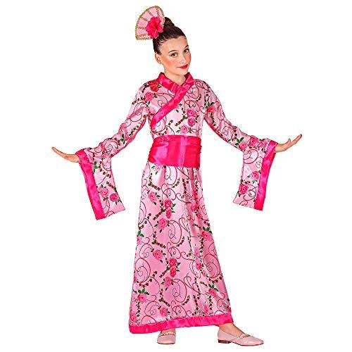 Widmann 09877 Kinderkostüm Asiatische Prinzessin, Mädchen, Rosa, 140 cm