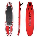 Lonlier Tabla Hinchable Paddle Surf iSUP con Paddle Ajustable, Bomba de Mano 305 x 76 x 15 cm Surf Board
