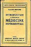 Introduction à l'étude de la médecine expérimentale. - Paris, Librairie Delgrave