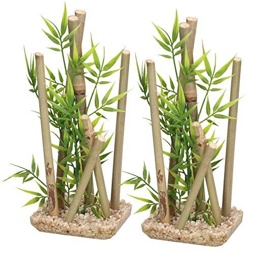 AB Rosewood Acquario Decor Bastone Bambu Medie Pesce Serbatoio Ornamenti 9x11x25cm