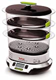 Tefal VS4003 Vitacuisine Compact  Vaporiera con Funzione Vitamine Plus, Display Digitale, Ricettario...
