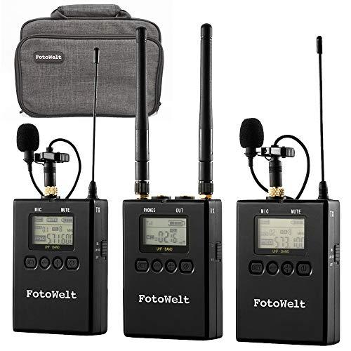 Pixel 100-Channel UHF Metal Professional Wireless Lavalier Microphone