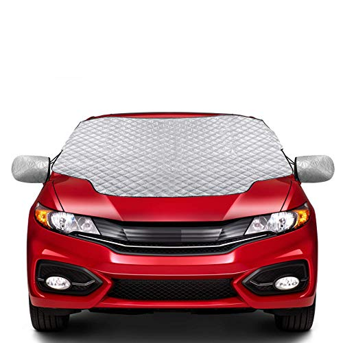Zenoplige Car Windscreen Frost Cover Snow Cover Windshield Sun Protector Waterproof Dust Cover and Ice Protector in All Weather Car Cover (S-summer)