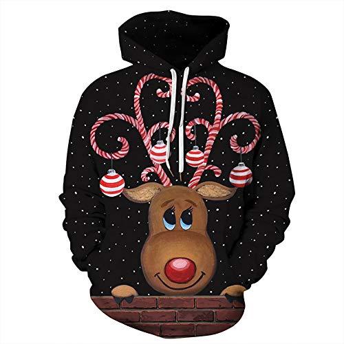 Zaima Frauen Männer Hoodie Sweatshirts Weihnachten Hoodies Katze Hund 3D Print...