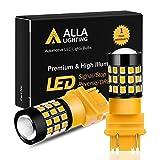 Alla Lighting 3157 LED Bulbs Super Bright 3156 3056 3157KX 4157 3457 4157NAK 3757 T25 Wedg...
