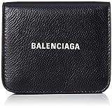 [バレンシアガ] 二つ折り財布 594216 1IZ4M キャッシュ フラップウォレット レザー 本革 ブラック/ホワイト [並行輸入品]